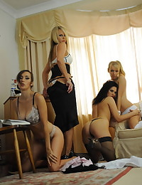 Secretary in Lingerie Headmistress Mackenzie and Teachers Extended
