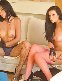 Secretary in Lingerie Student Amy Alexandra and Teta-Maria Stone