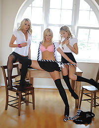 Secretary in Lingerie Student Amy Green and Emma-Claire Jones and Holly Newberry