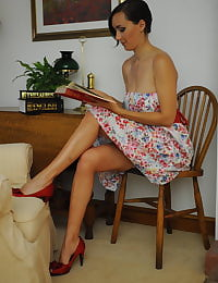Secretary in Lingerie Teacher Miss Nadja