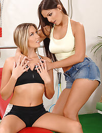 Eve Angel and Cherry Jul lesbo
