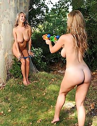 Carol, Jannete playing naked
