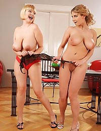 Busty young lesbians playing