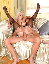 All orifice nylon threesome