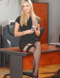 Sophia Knight with glass dildo