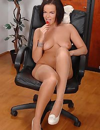 Fucking herself in the office!
