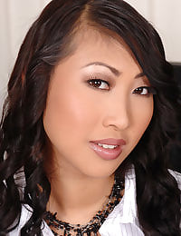 Asian Sharon Lee toying holes