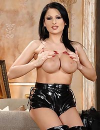 Busty babe in latex