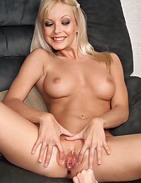 Jana Cova in See Thru White Panties with her shaved pussy