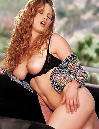 Karrie Jacobs in is an all natural beauty with curly locks