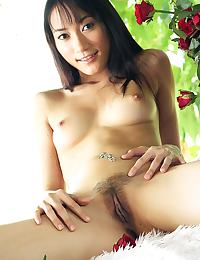 Thai rose Lin Lin strips dress and plays with dildo