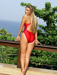 Sharon - Red One-Piece