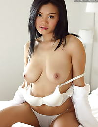 Asian sally 06 sleepy bed bignaturals hanging tits
