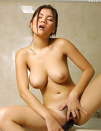 Asian natalia 17 shower hugetits big dildo negligee
