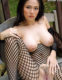 Asian annie chui 09 forest bodystocking hanging
