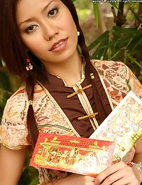 Thai Girl Miki Sukawa Chinese New Year Strip