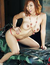 Busty Rita Wong Strip And Toy Play