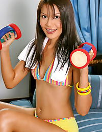 Asian arena lau 05 bikini smalltits big nipples sporty