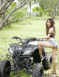 Asian patricia ling 01 quad bike shaved