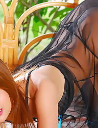 Asian barbara chuan 08 see through negligee redhead