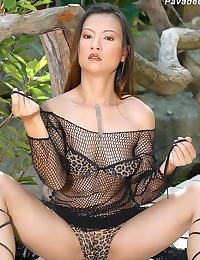 Asian pavadee 08 forest big labia lips