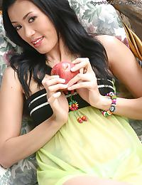 Thai Girl Ning Shares Fruit & Strips