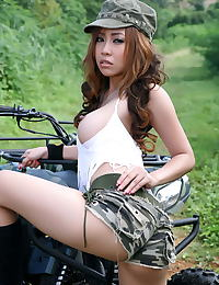 Asian minny fong 05 pussy army quad bike trip