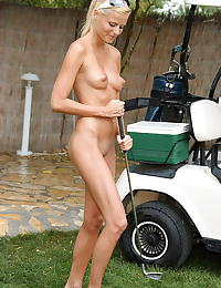 sophie paris 04 two dildo golf caddy shaved cunt
