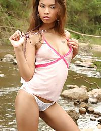 Thai Girl Amara Plays Naked In River