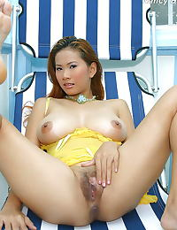 Asian nancy ho tits 21 yellow negligee huge hanging tits