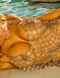 Chained Gown Poolside Blonde