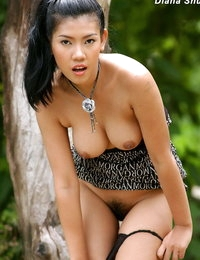 Topless Oriental Beautiful Babe Diana Shui
